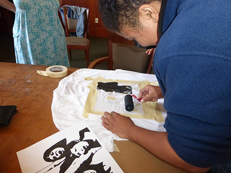 Pocha Poetics Stencil Workshop 2014